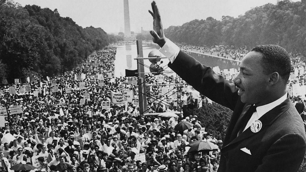 سخنرانی مارتین لوتر کینگ جوان در مقابل 250 هزار نفر | واشنگتن