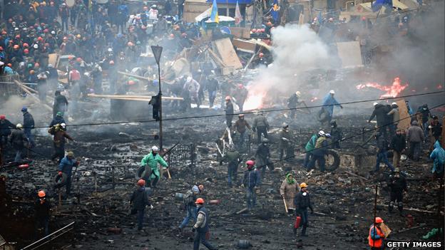 اعتراضات گسترده در اوکراین 2014
