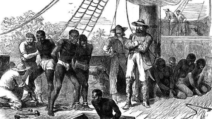 انتقال بردگان به آمریکا
